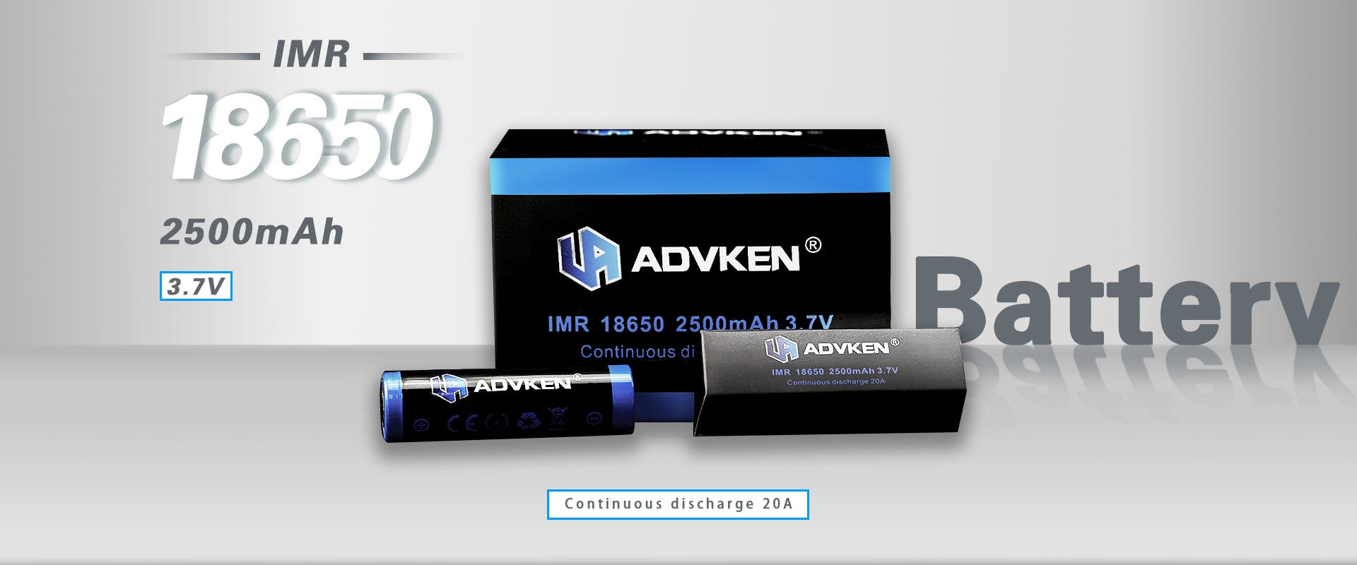 Advken 18650 Battery