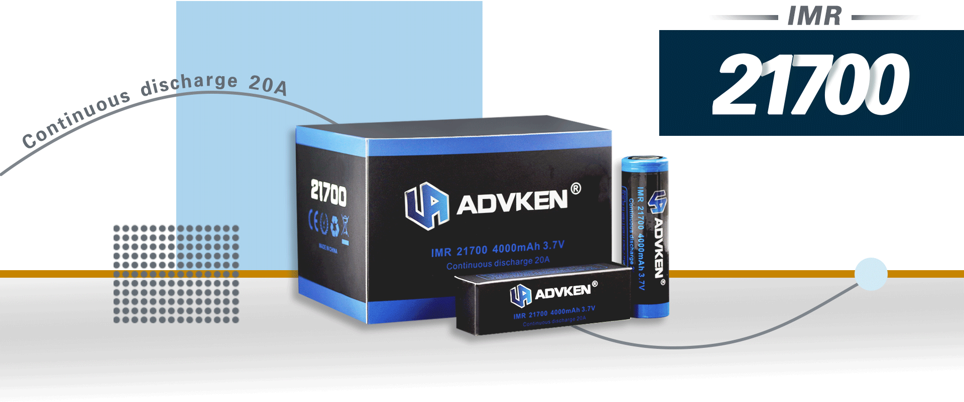 Advken 21700 Battery