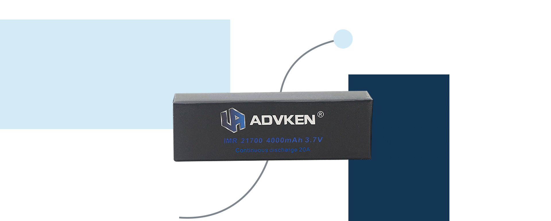 Advken 21700 Battery 4000mAh