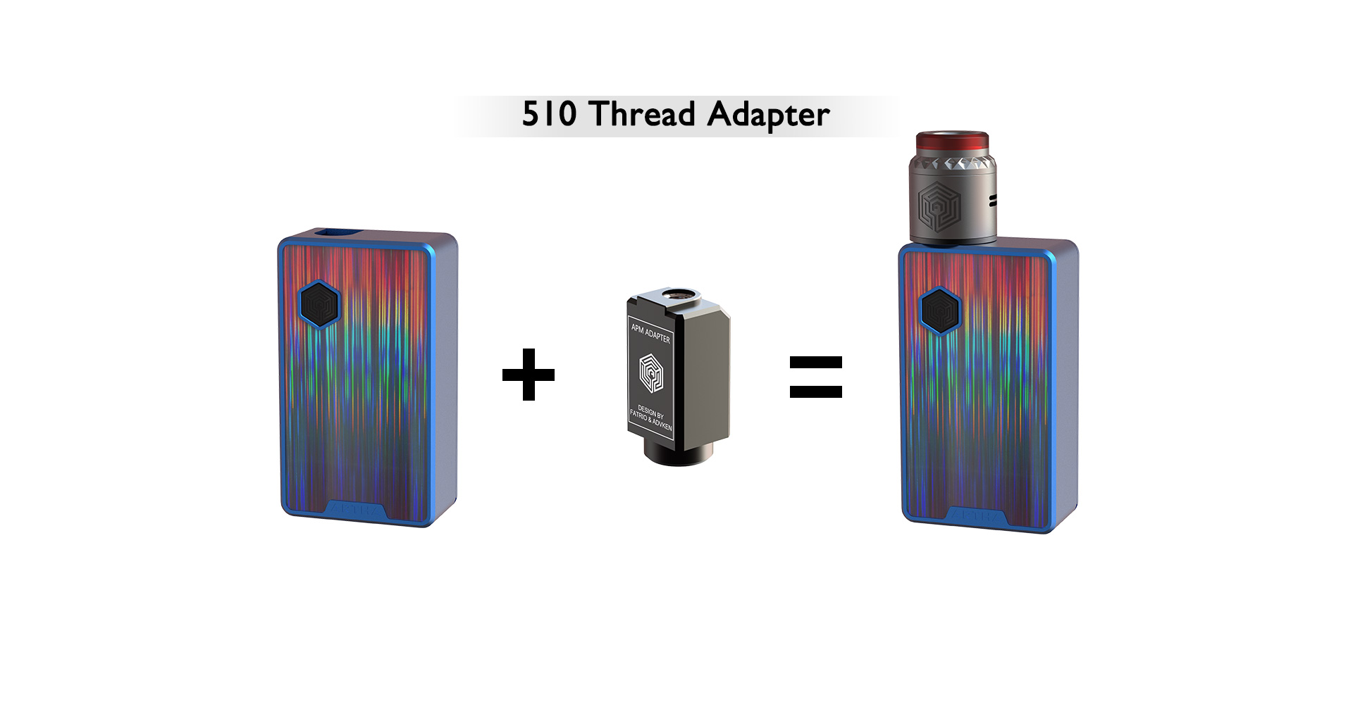 Advken Artha Pod Mod 510 Thread Adapter