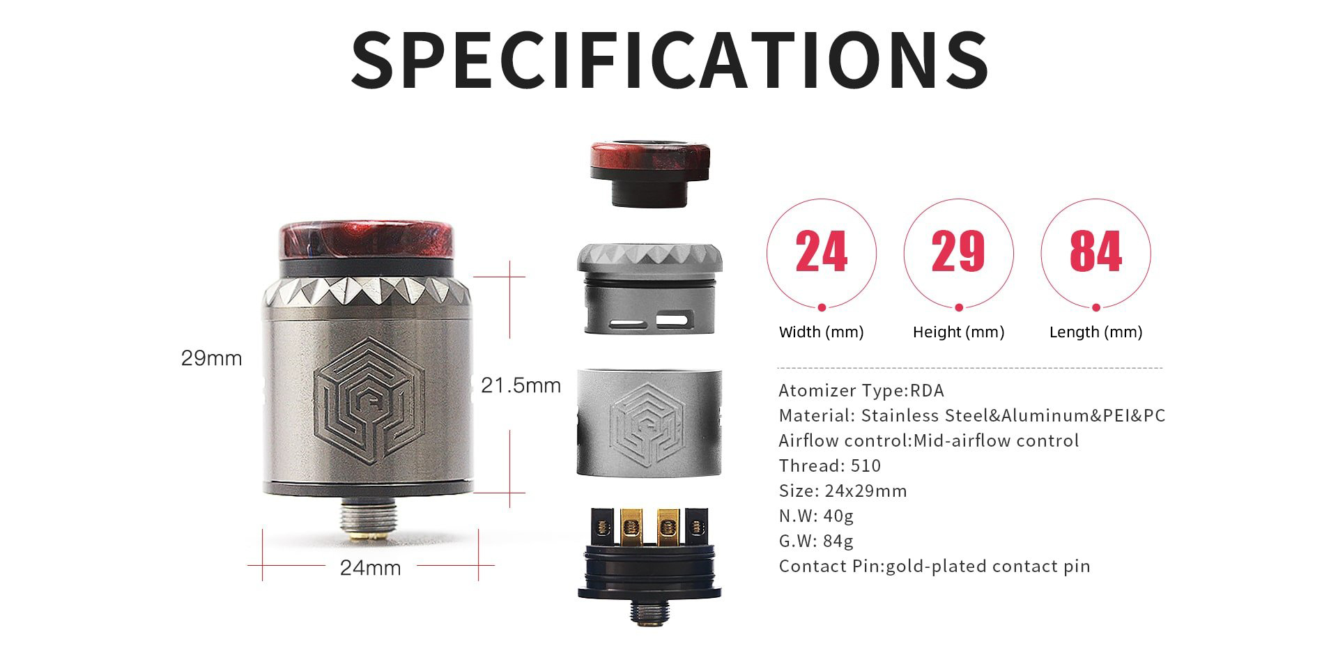 Advken Artha V2 RDA Specifications