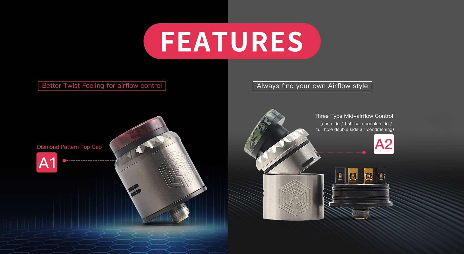 Advken Artha V2 RDA Features