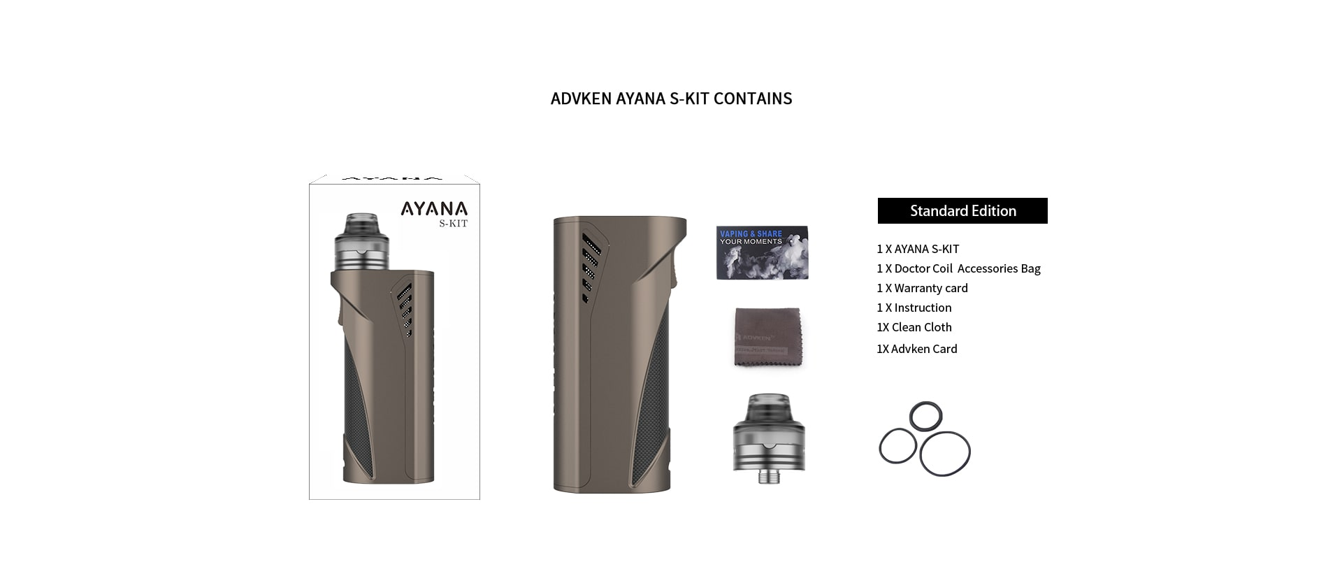 Advken Ayana Kit Includes