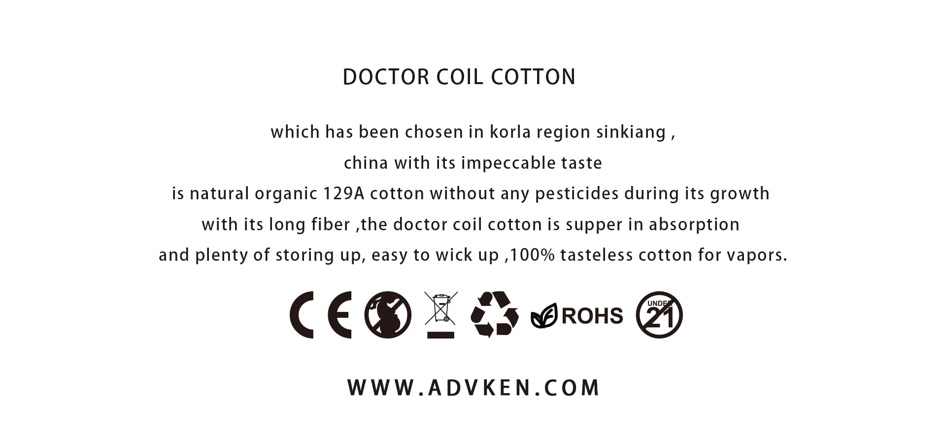 Advken 100% tasteless cotton