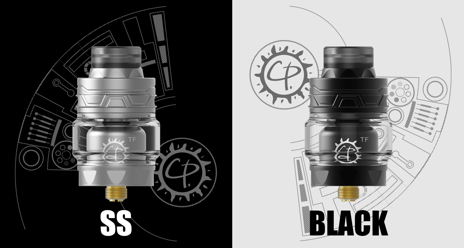 Advken CP TF RTA SS and black color