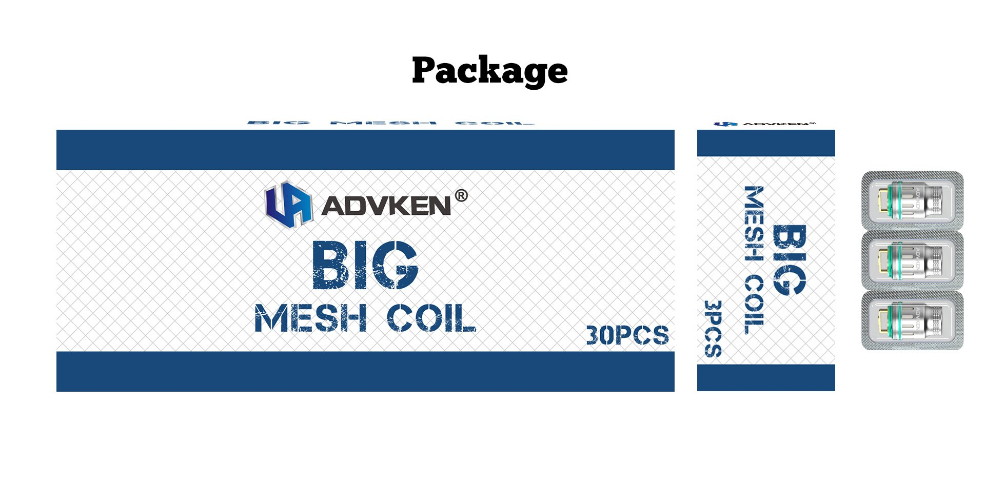 Advken Dark Mesh Coil Package