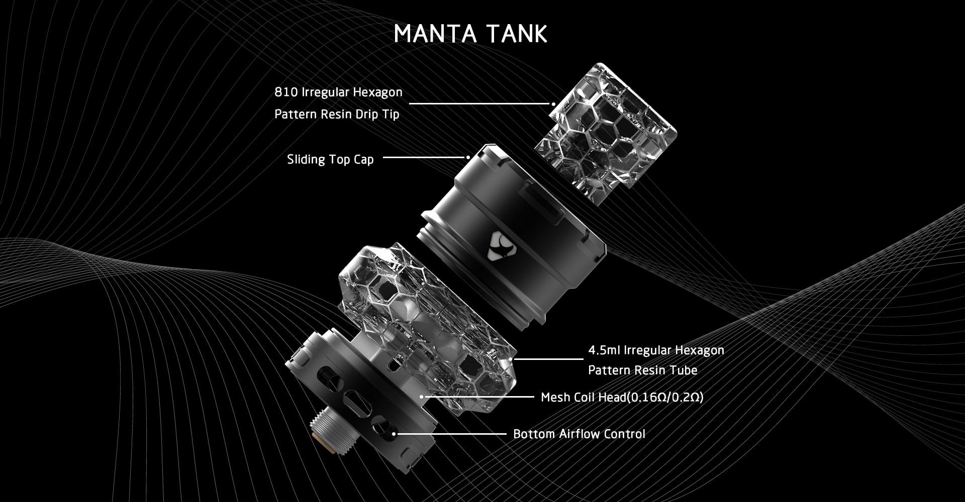 Advken Manta Tank Components
