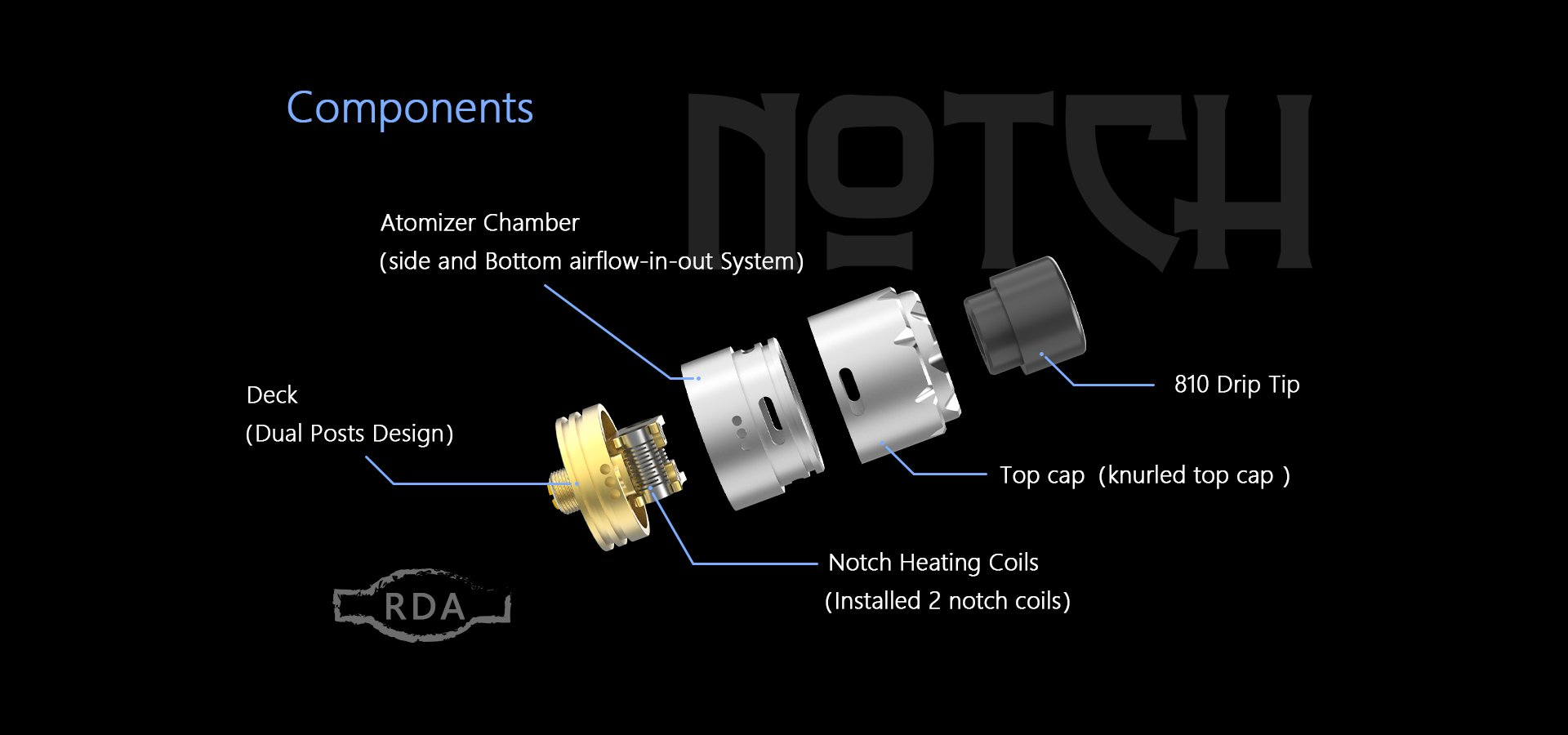 Advken Notch RDA Components